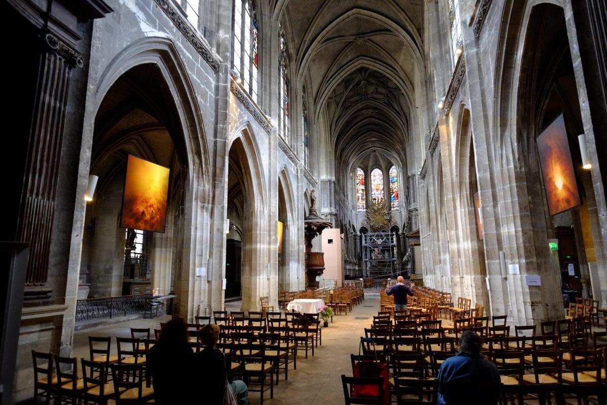 L'intérieur de l'église Saint-Merry, rue de la Verrerie