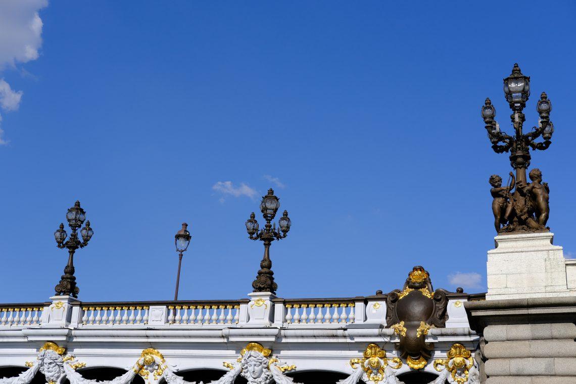 L'un des montants du pont Alexandre III