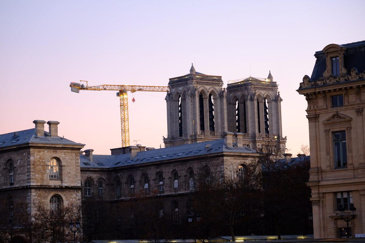 Notre Dame au crépuscule en date du 10 janvier 2021