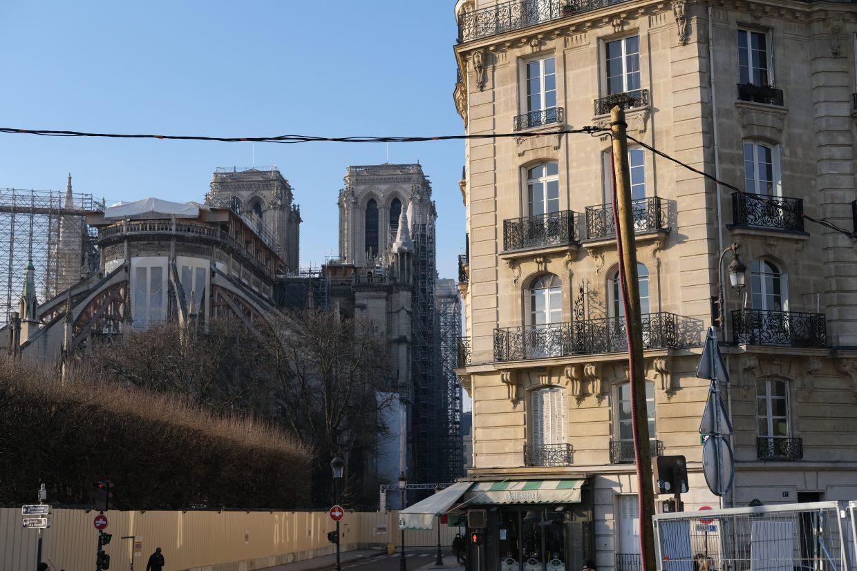 Notre Dame de Paris dans les tous premiers jours du mois de janvier 2021