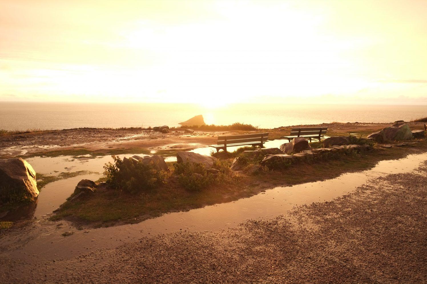 Un coucher de soleil incroyable sur le cap fréhel