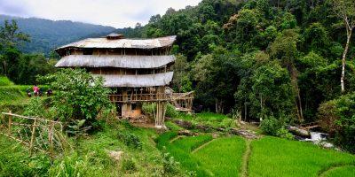 Une cabane en bambou dans le parc national de Doi Inthanon