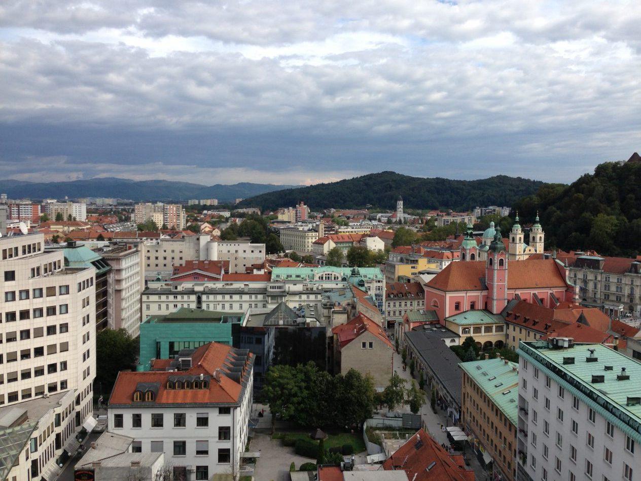 Une vue sur Ljubljana la capitale de la Slovénie
