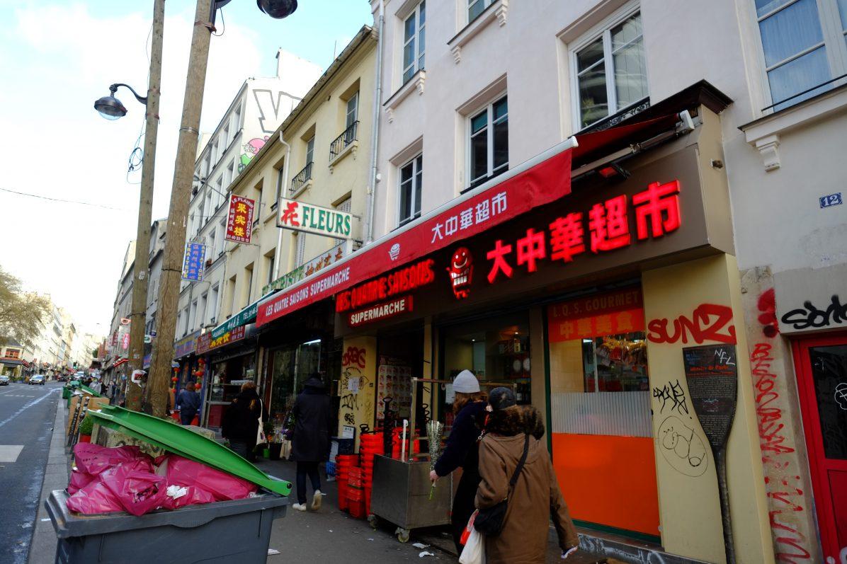 Dans les rues du quartier chinois de Belleville