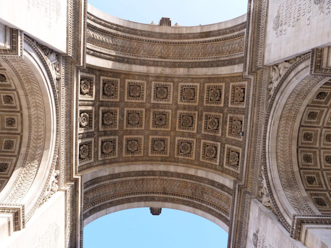 L'Arc de Triomphe sur la place de l'Etoile