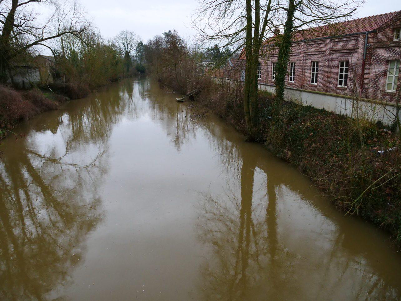 L'Oise qui passe par la ville de Guise