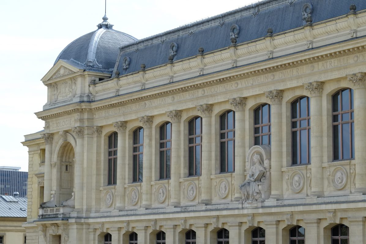 La belle façade de la grande Galerie de l'évolution
