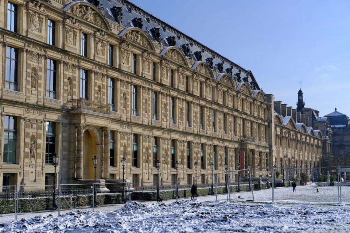 La façade du Louvre côté jardins