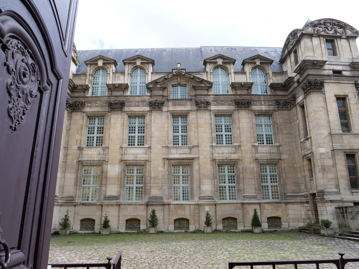 La façade de la bibliothèque de Paris