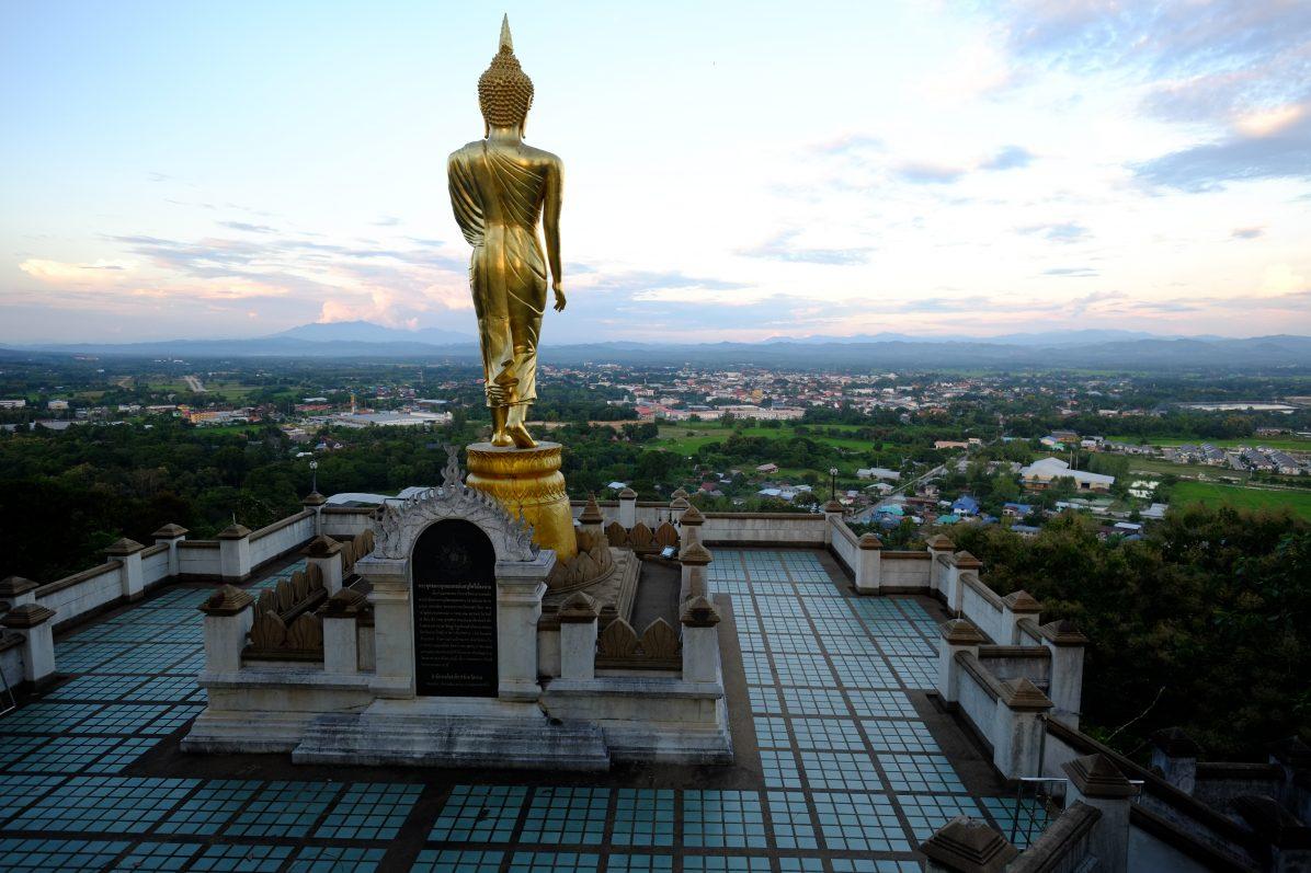 Le fameux Bouddha d'Or qui veille sur la ville de Nan