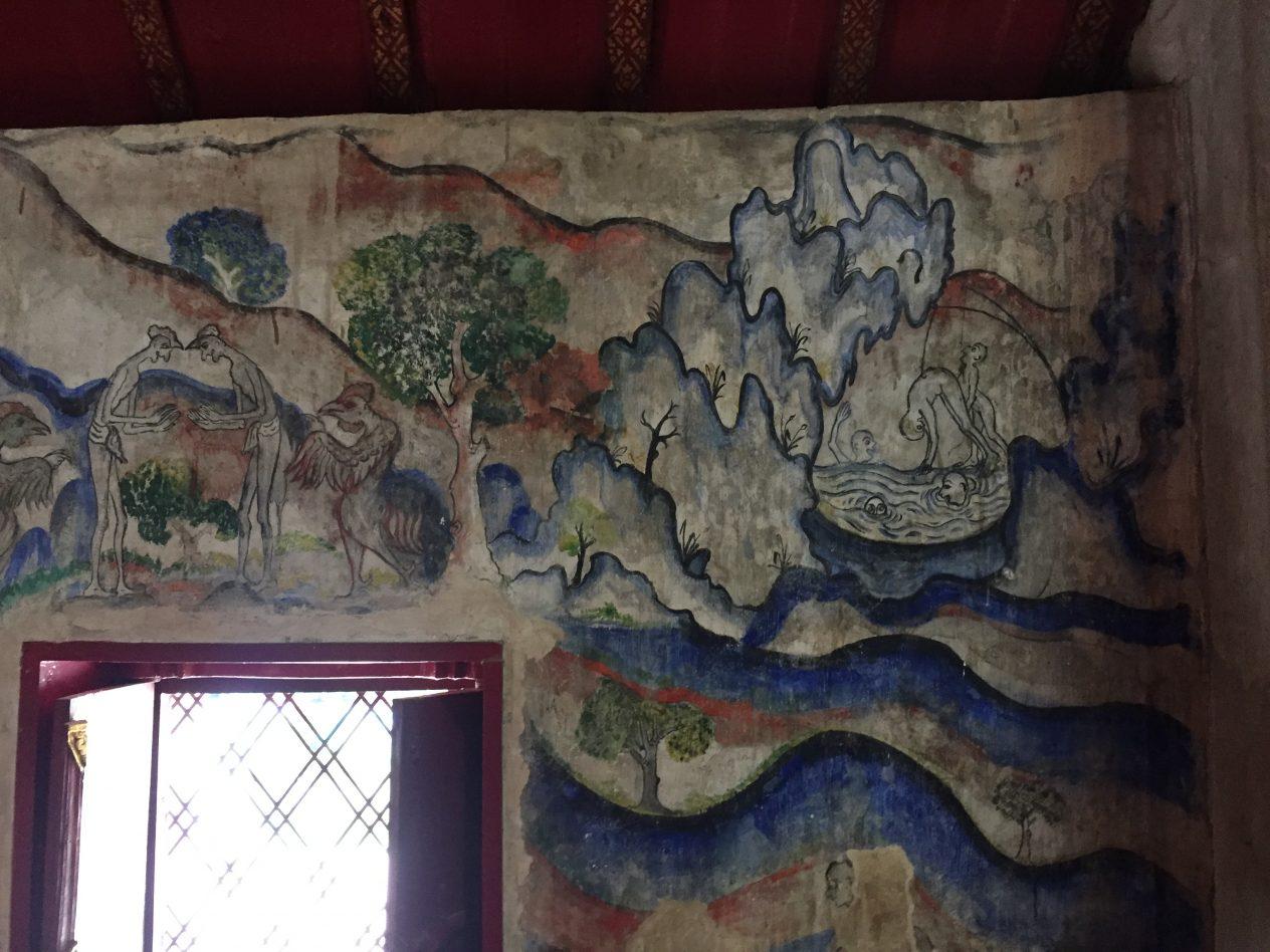 L intérieur du temple de Phumin l'un des plus remarquables de Nan