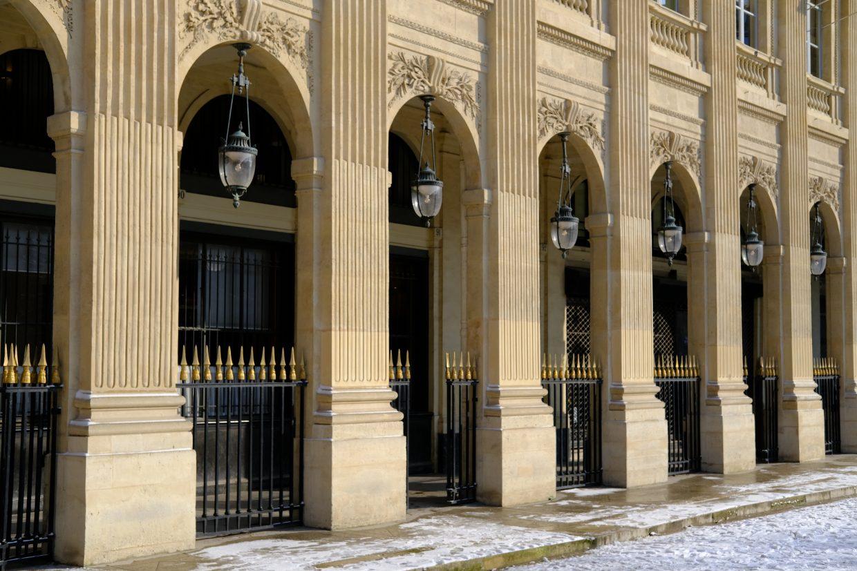 Les belles arches du jardin du Palais Royal