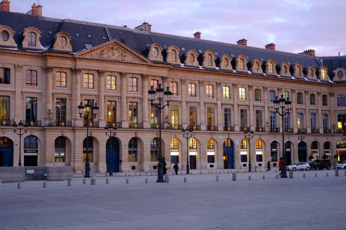 L'une des façades de la place Vendôme