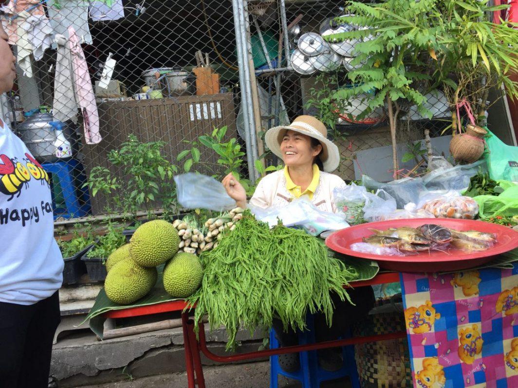 Sur l'un des marchés de Nan