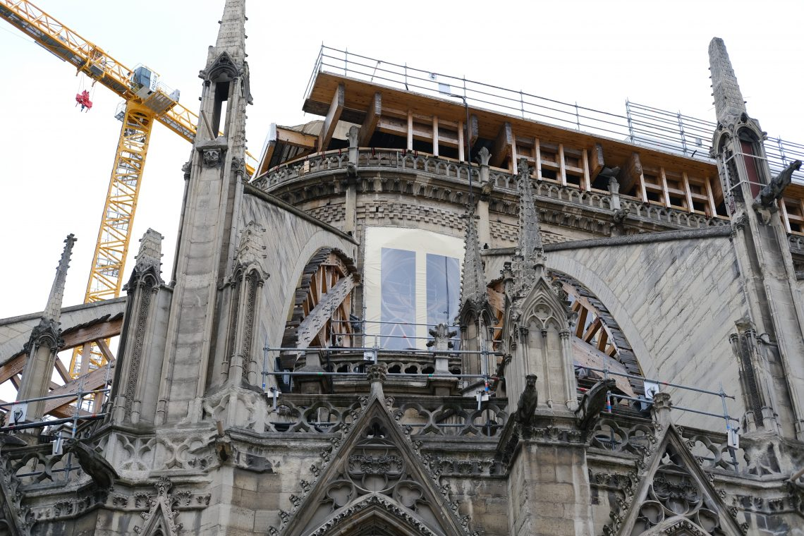 Un plan serré sur Notre Dame, le 22 mai 2021