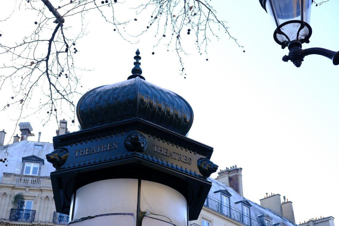 Une colonne Morris à Paris