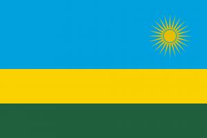 le drapeau du Rwanda