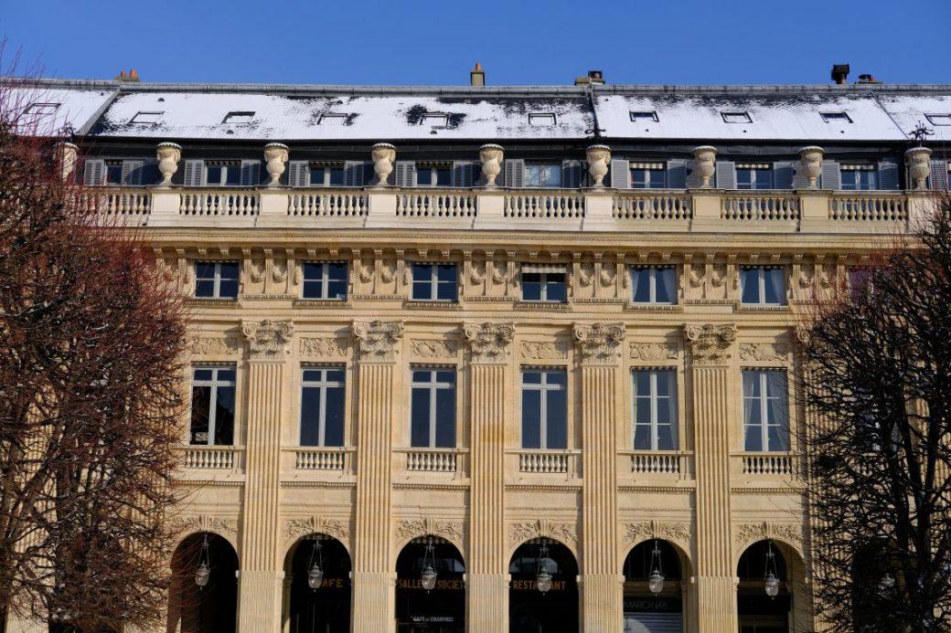 une belle façade donnant sur les jardins du Palais Royalune belle façade donnant sur les jardins du Palais Royal