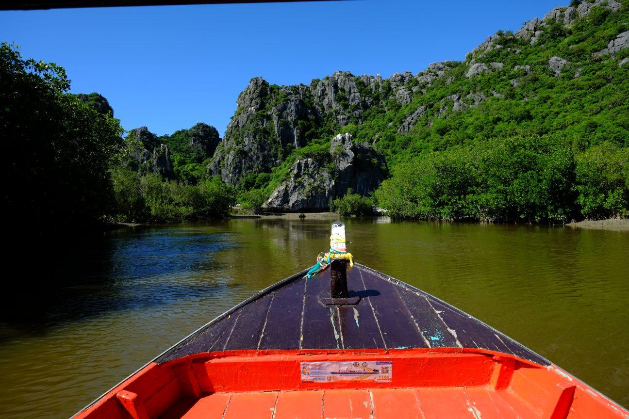 Dans les gorges du parc national de Khao Sam Roi Yod en Thaïlande