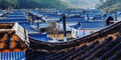 Des habitations dans la belle campagne chinoise