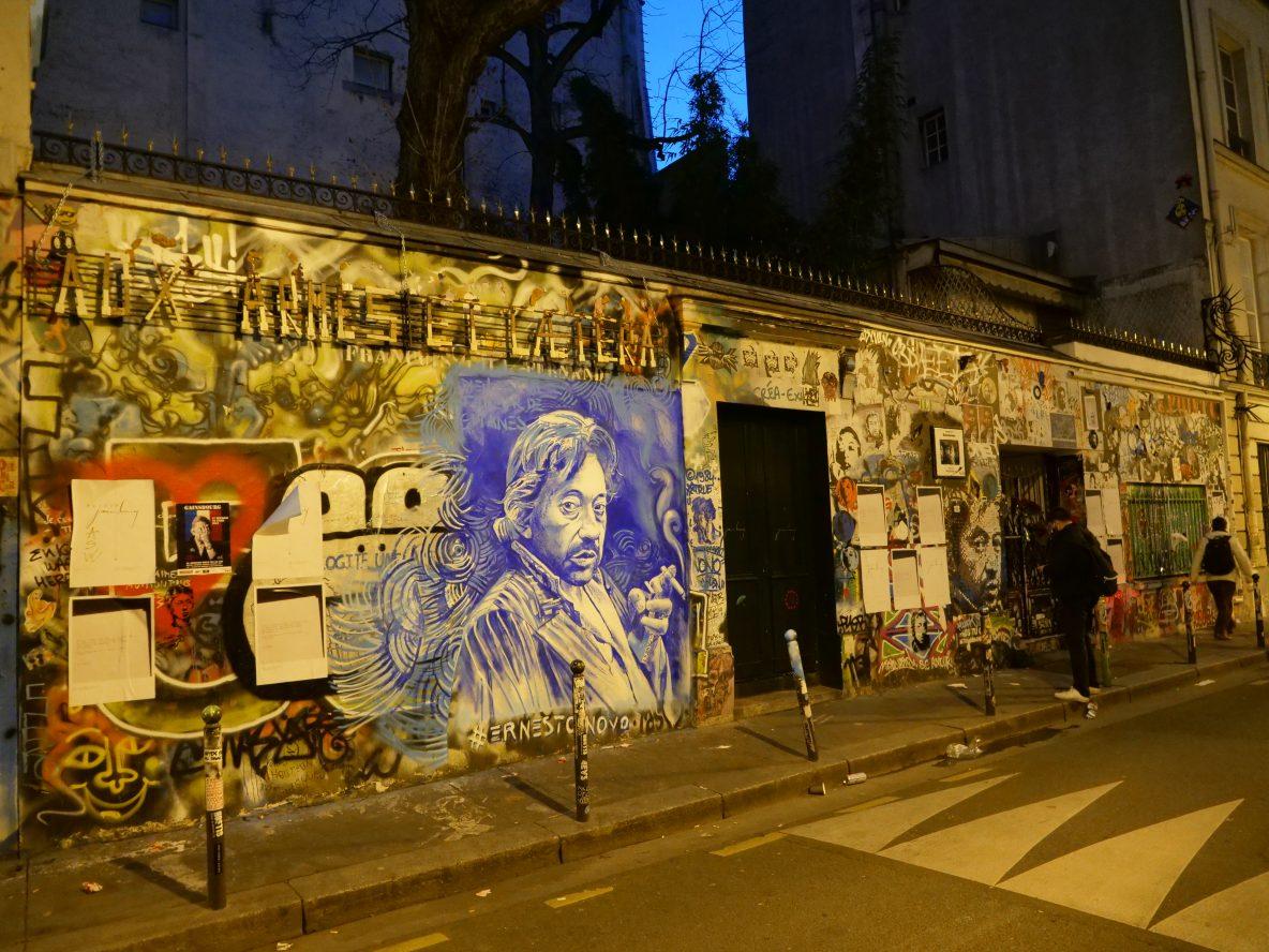 La façade du 5 bis rue de Verneuil le 2 mars 2021