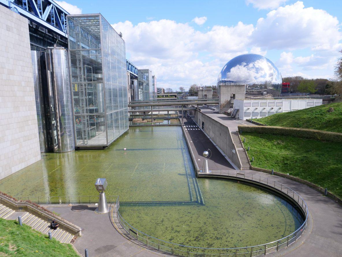 La géode et la Cité des Sciences et de l'Industrie
