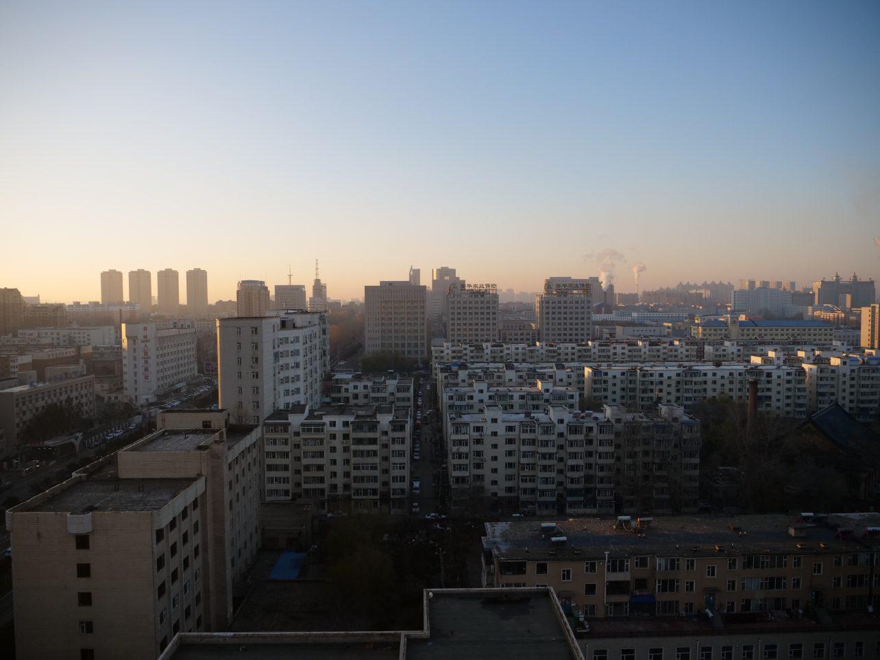 La ville de Changchun au lever du soleil