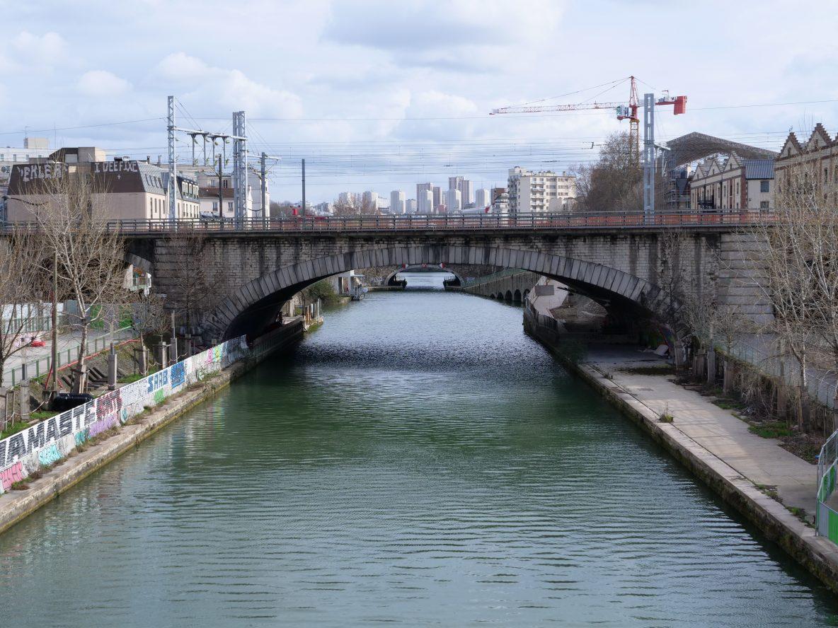 Le canal de l'Ourcq dans le 19 ème