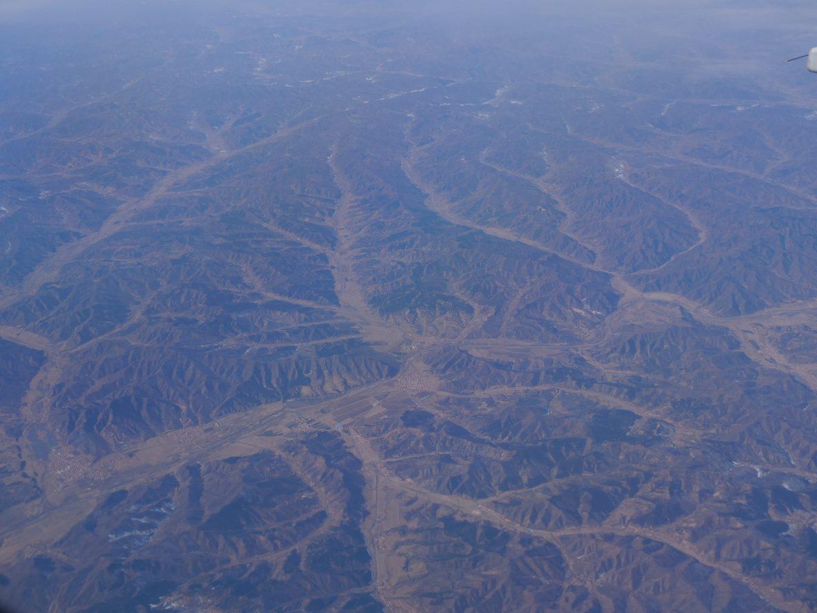 Les paysages arides du nord-est de la Chine