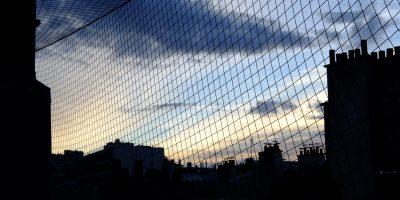 Les toits de Paris vus depuis le 6 ème étage