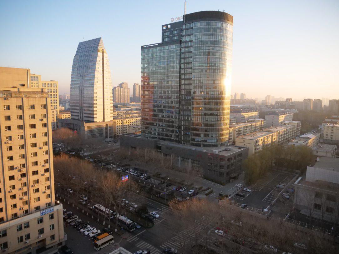 L'incroyable ville de Changchun au lever du soleil