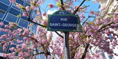 La rue Saint-Georges dans le 9 ème arrondissement de Paris
