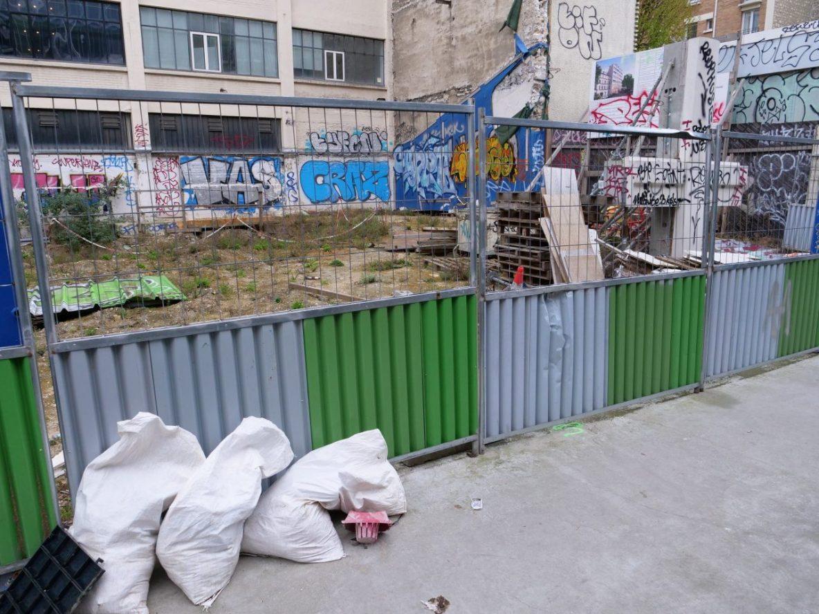 L'avenue Jean Aicard dans le 20 ème arrondissement de Paris