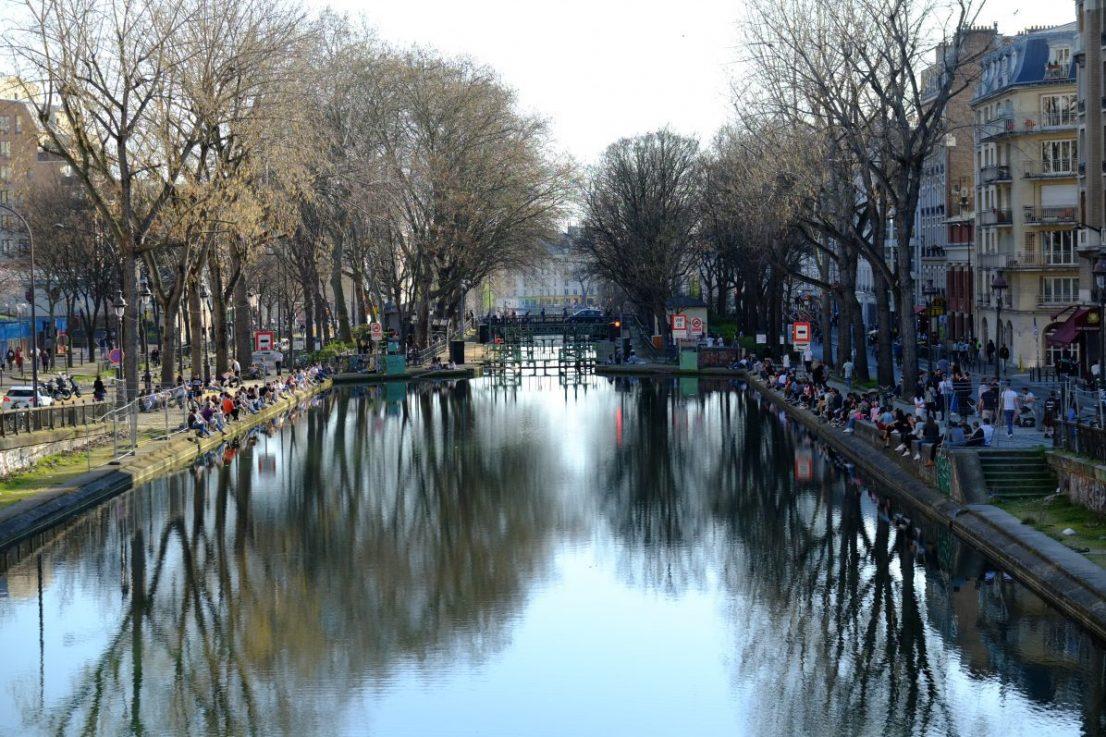 Le miroir d'eau du Canal Saint-Martin