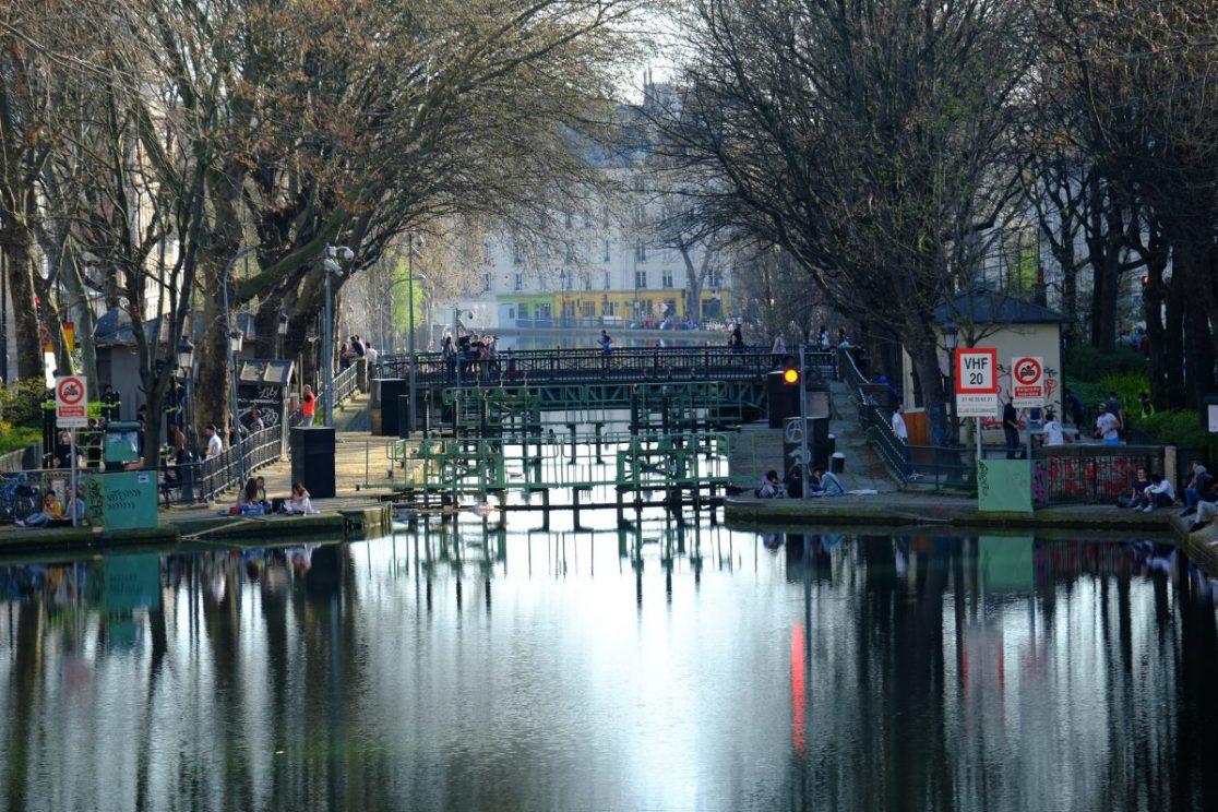 L'une des écluses du canal Saint-Martin dans le 10 ème arrondissement