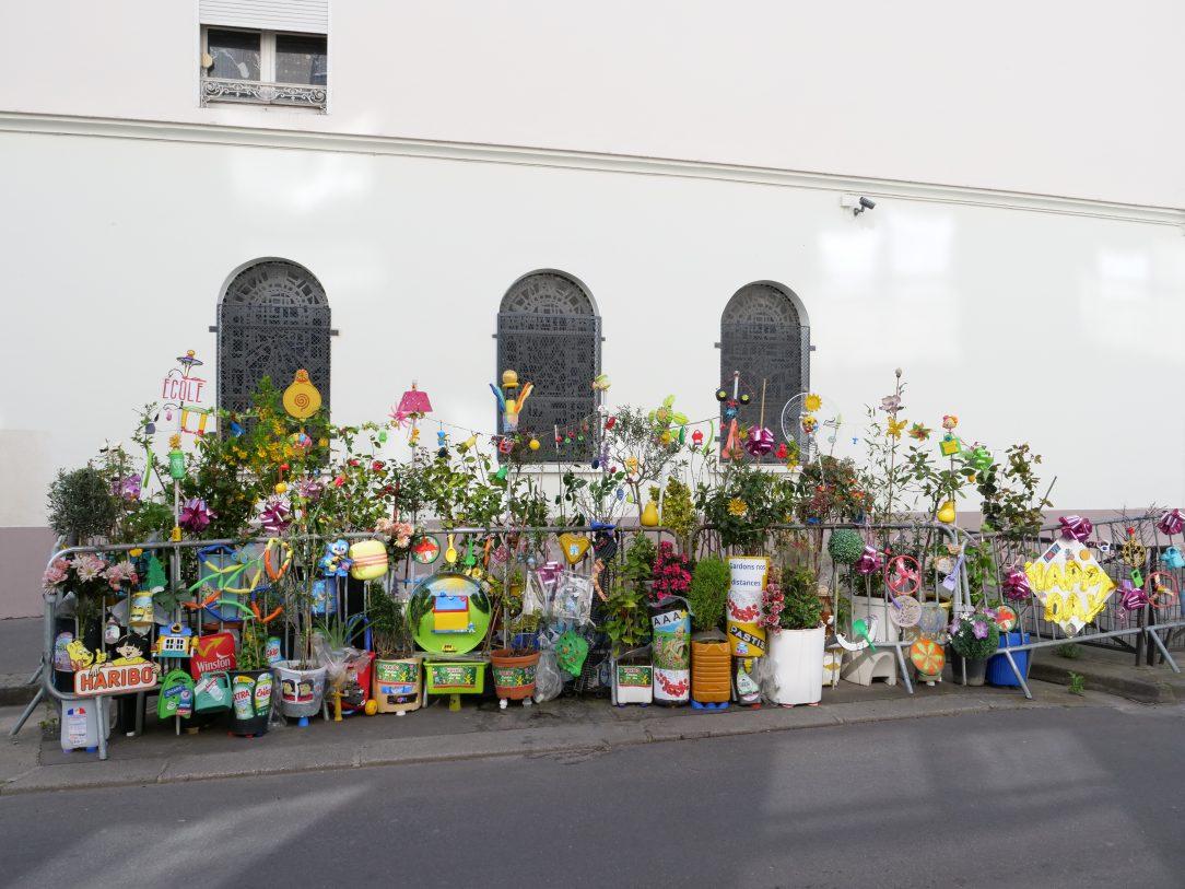 Une œuvre poétique dans les rue de Paris