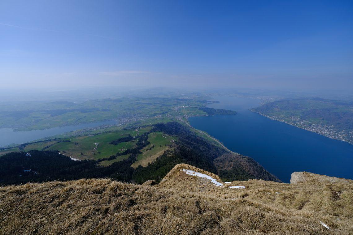 La belle vue depuis le sommet de Rigi le mont qui domine Vitznau
