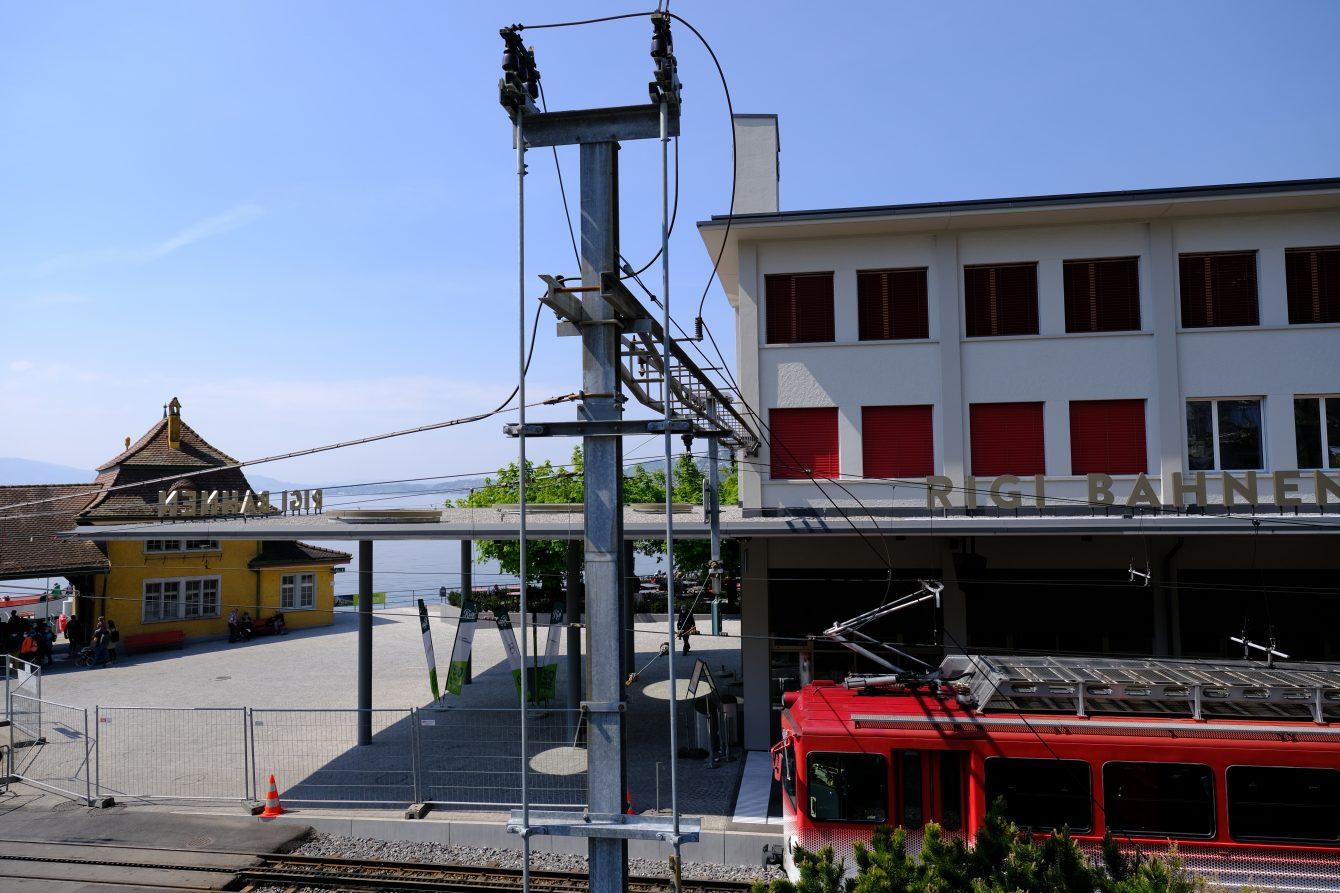 La gare de Rigi, la gare du premier train de montagne d'Europe