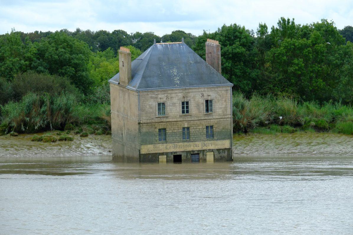 La maison dans la Loire à la sortie de Nantes