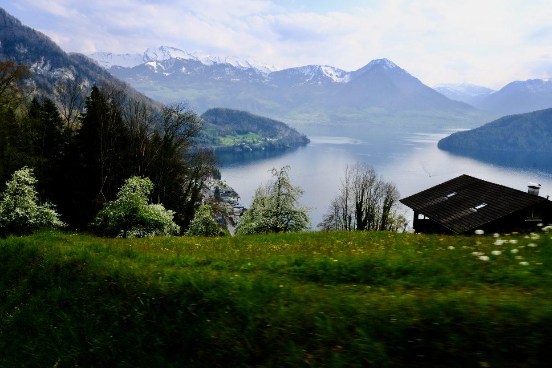 Les paysages le long du parcours du train Rigi