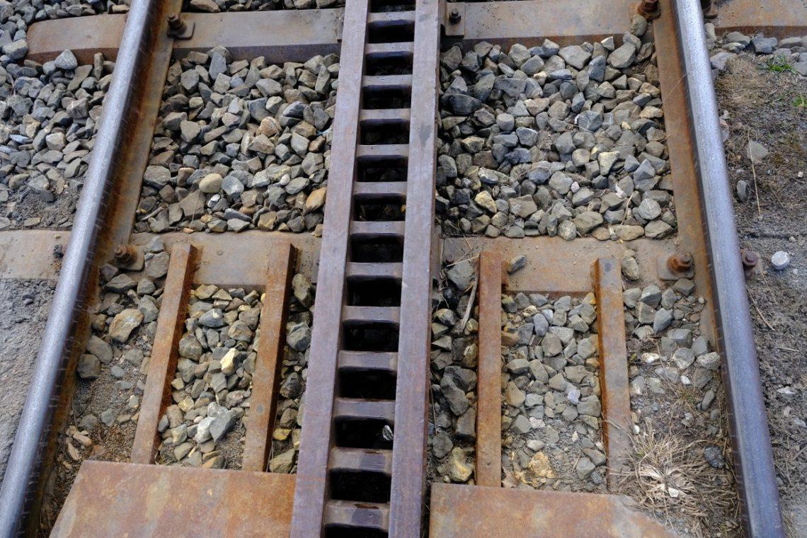 Les rails de chemins de fer du mont Rigi