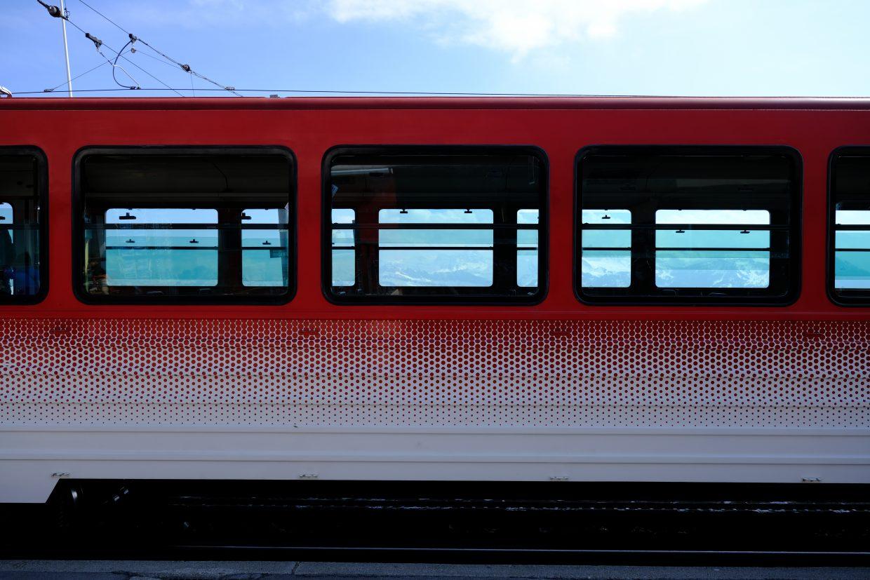 L'un des wagons du train du Mont Rigi