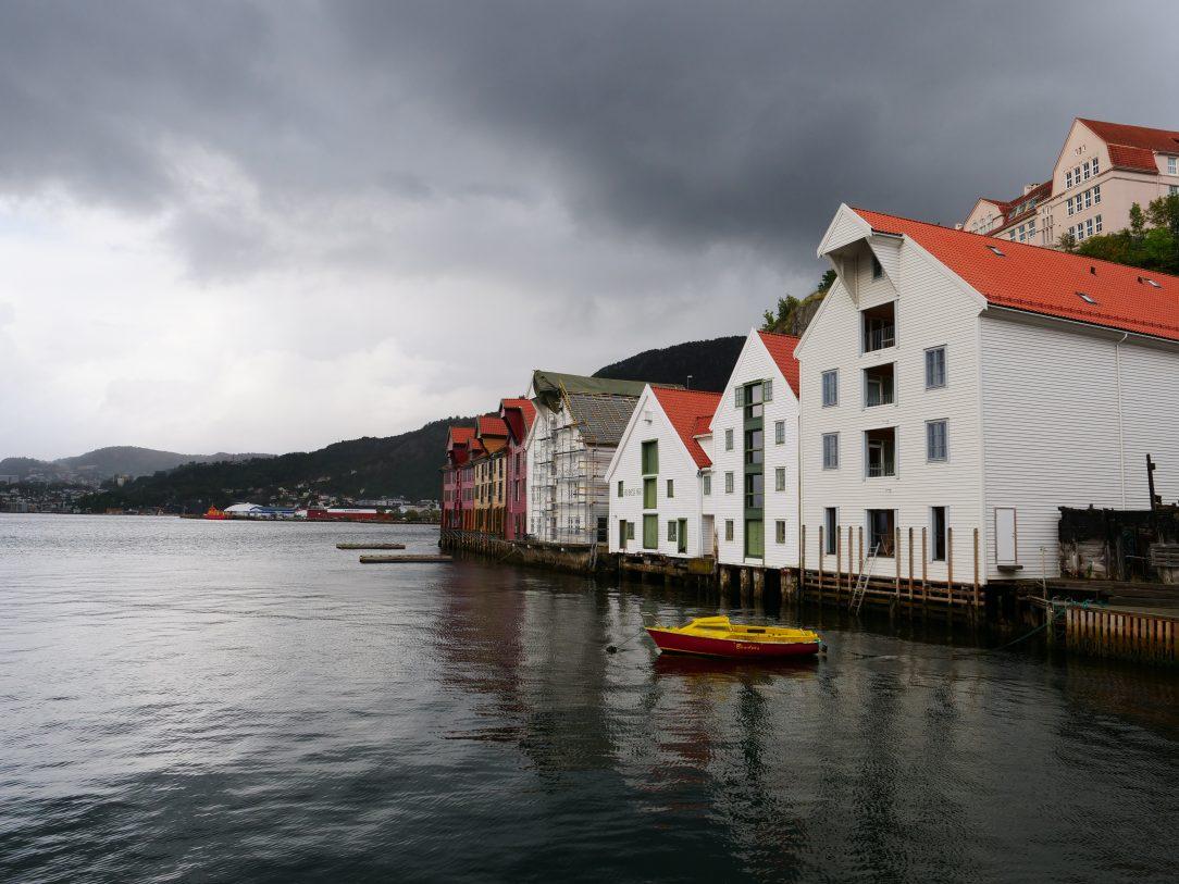 Quelques maisons sur les quais de Bergen en Norvège