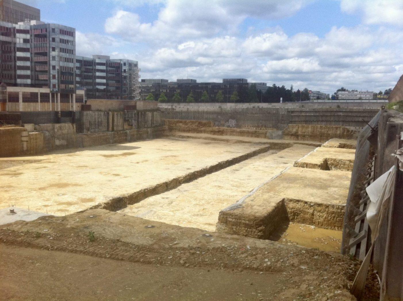 Un chantier dans les hauteurs de Luxembourg ville