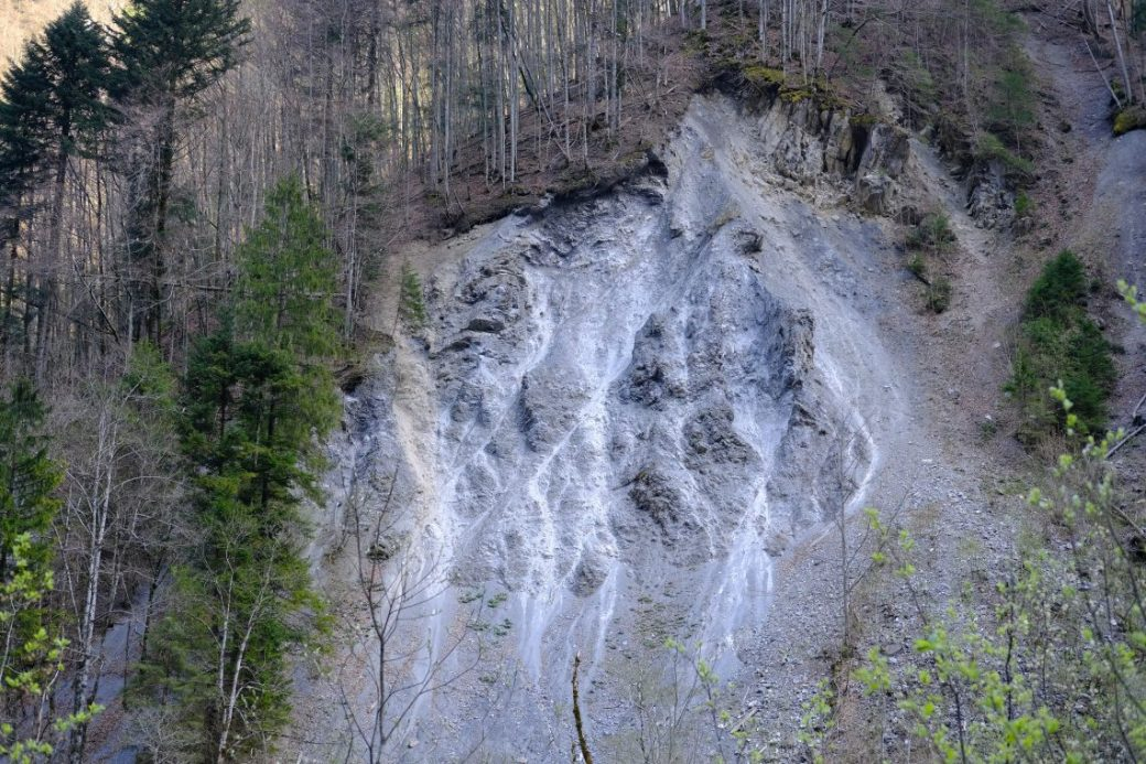 Un glissement de terrain non loin d'Engelberg en Suisse