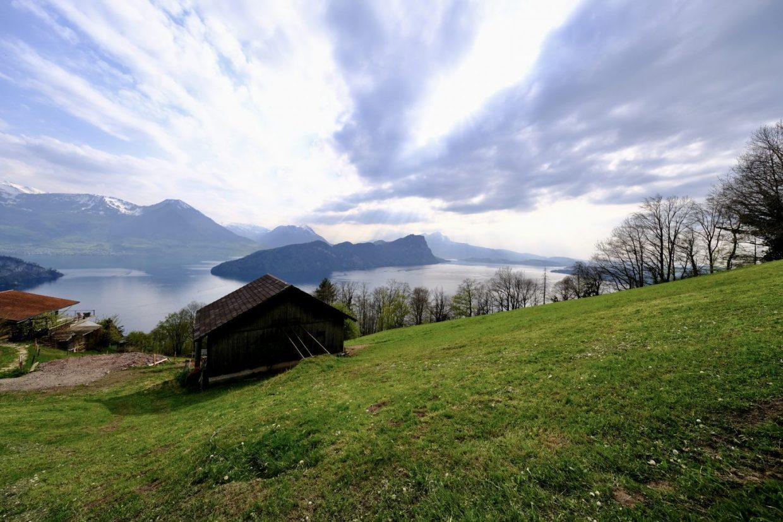 Un paysage juste au-dessus de Vitznau