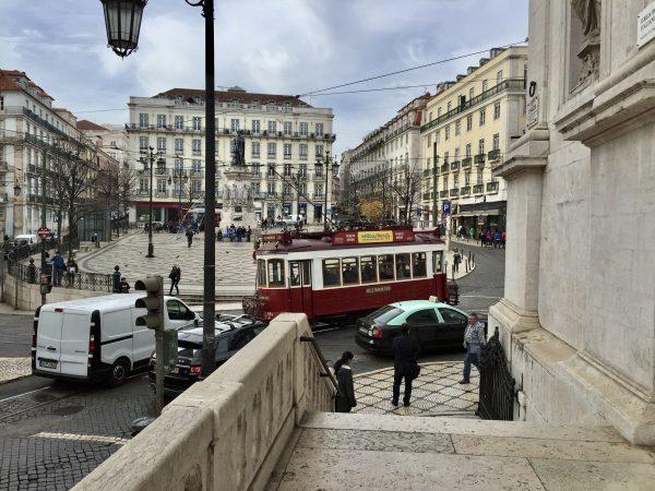 Dans les rues de Lisbonne la capitale du Portugal