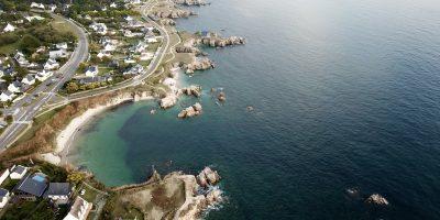 La baie du Scall marque la délimitation entre le Pouliguen et Batz sur mer