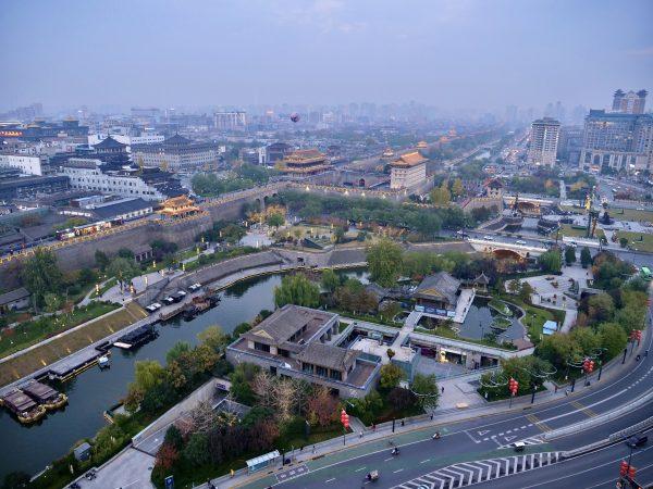 La belle ville de Xi'an dans la province chinoise de Shaanxi