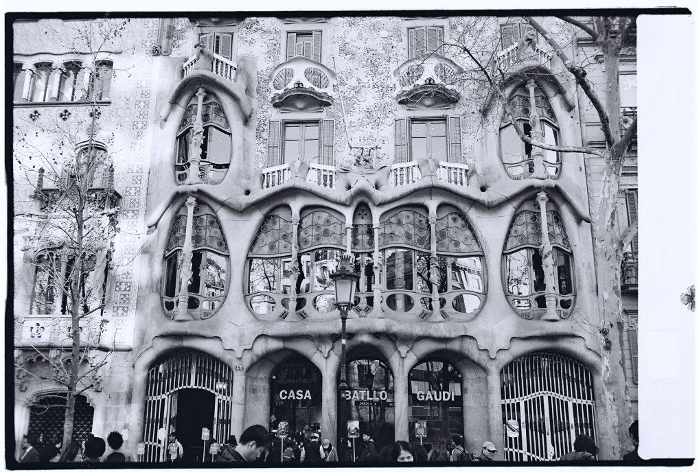 La façade de la Casa Batllo à Barcelone